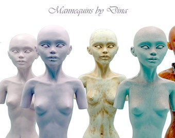 """BJD resin doll mannequin with stand 40cm. Suitable for: 16"""" fashion dolls, Popovy, 1/4 scale."""
