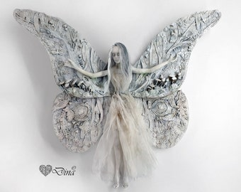 Fairy doll - Fairy art - Fine Art Doll - Art Doll - Unique Doll - Collectible Doll - Vintage Style Doll - OOAK Doll - Figurine - Sculpture