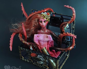 Octopus art - Fine Art Doll - Art Doll - Unique Doll - Collectible Doll - OOAK Doll - Figurine - Sculpture