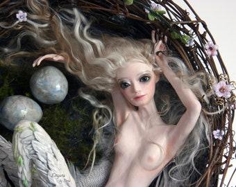 Bird doll - Bird art - Fine Art Doll - Art Doll - Unique Doll - Collectible Doll - Vintage Style Doll - OOAK Doll - Figurine - Sculpture