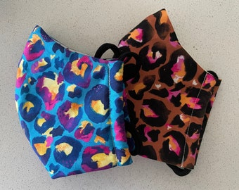 Reusable fabric face mask   3 layers   Made in Australia   Kasey Rainbow fabric
