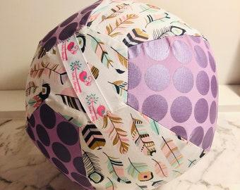 Purple Feather BallOon - Fabric Balloon Ball Cover