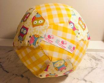 Yellow Owl BallOon - Fabric Balloon Ball Cover
