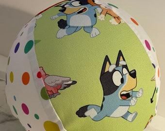Bluey BallOon Ball - Fabric Balloon Ball Cover - Keepy uppy - Bluey & Bingo