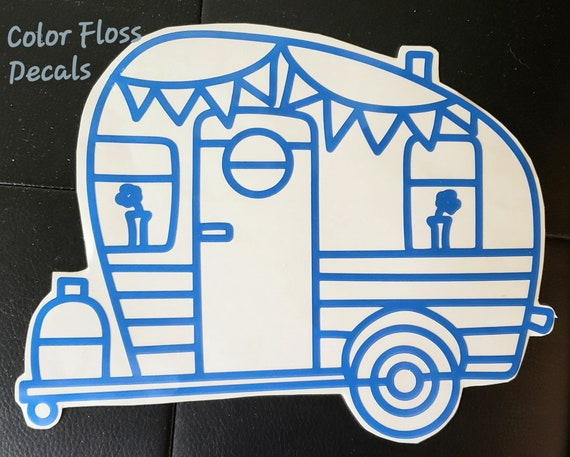 Camper Camping Vinyl Decal Your chice of color