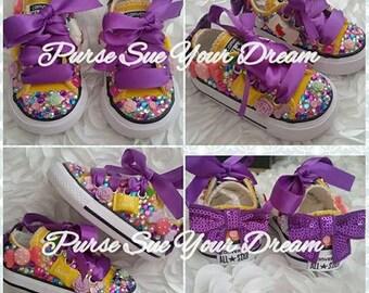 Benutzerdefinierte Candyland Converse Schuhe Candyland
