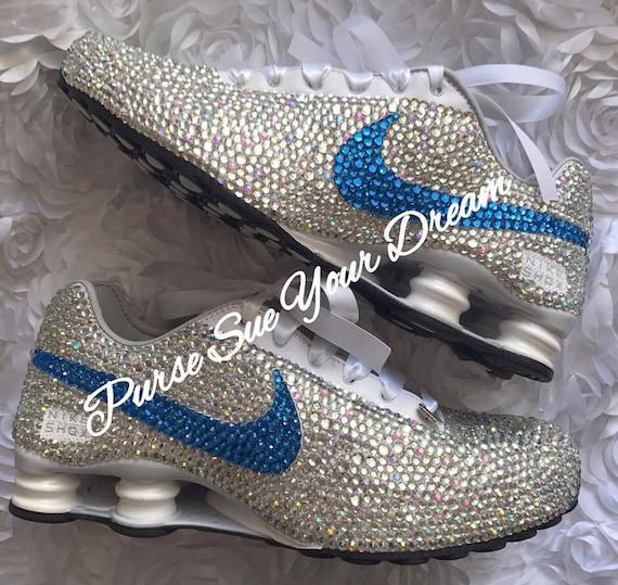 67cd186f1e11 Crystal Rhinestone Nike Shox Designed Shoes Swarovski