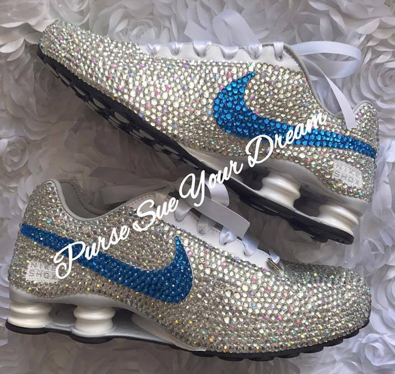 0488c7a7890a8 Crystal Rhinestone Nike Shox Designed Shoes - Swarovski Crystal Nikes -  Custom Shoes - Wedding Nikes - Swarovski Nikes