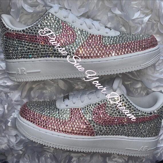 Swarovski Kristall Strass Nike Air Force 1 Schuhe Swarovski Crystal Designs Strass Nike Air Force One Hochzeit Nike Schuhe