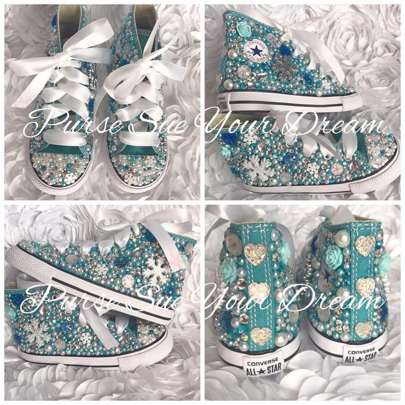 edfac2e2c6672f Disney Frozen Themed Custom Converse Shoes Frozen Birthday
