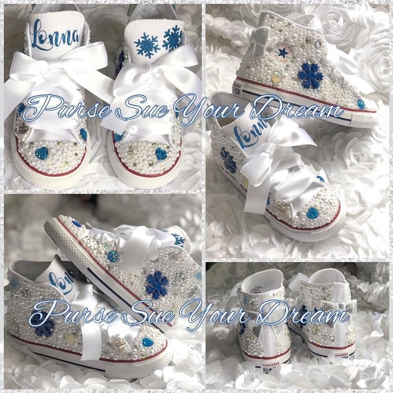 Personalized Frozen Themed Pearl and Swarovski Crystal  5b42c72ad3