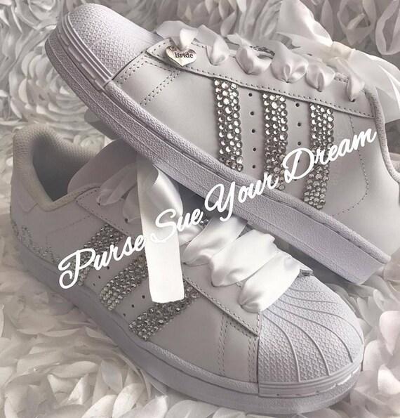 Swarovski Crystal Design nuziale Adidas Superstar sposa scarpe Swarovski Adidas scarpe da sposa Swarovski
