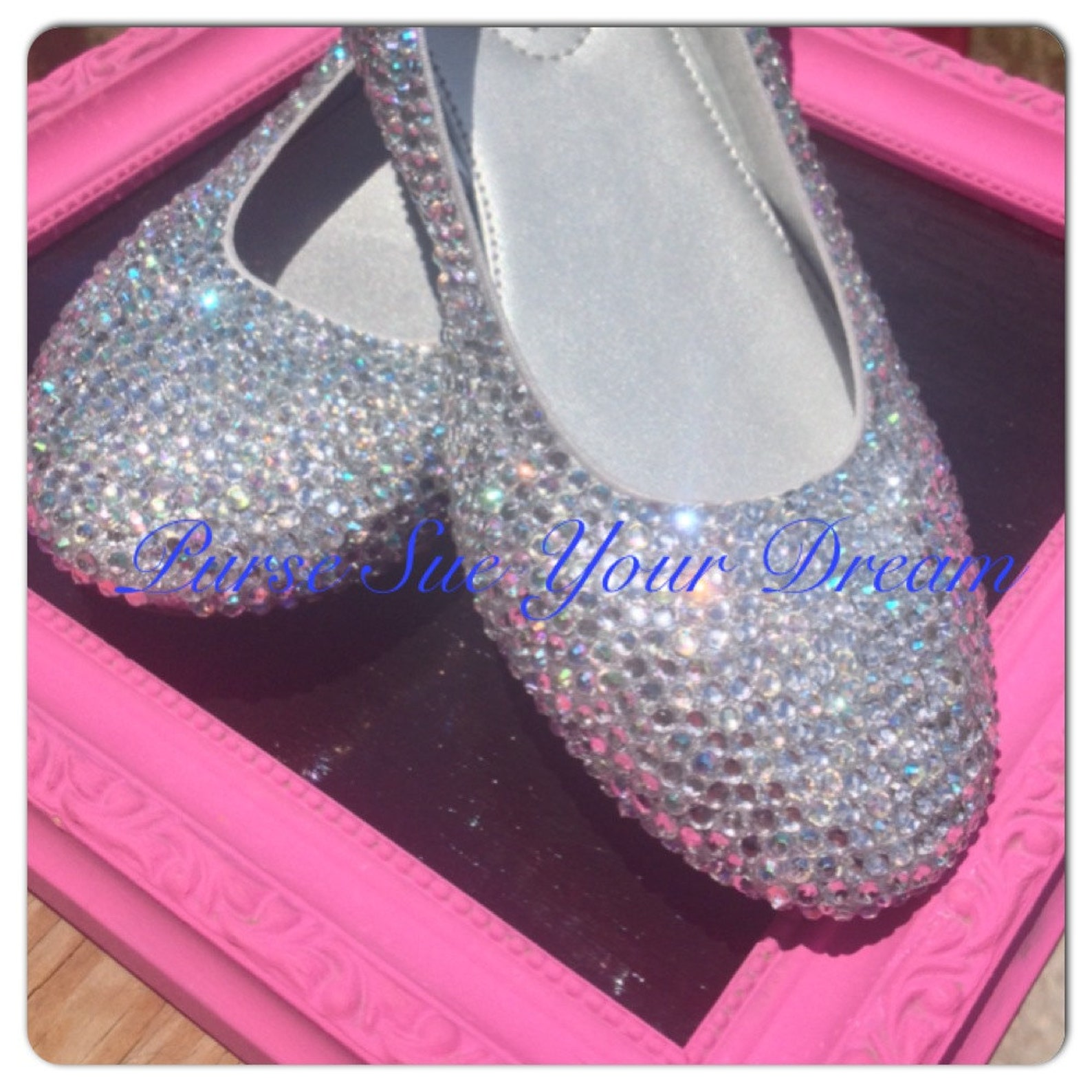 custom crystal rhinestone ballet flat shoes - wedding shoes - bridal shoes - adult size swarovski crystal shoes