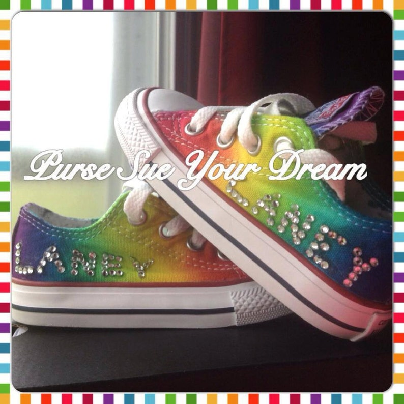 d17d189d62f9 Custom Rainbow Tie Dye Converse From Infants To Adult Sizes