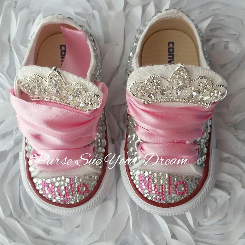 5a487835cfeb1f Cristal de Swarovski diseño princesa Converse zapatos Bling