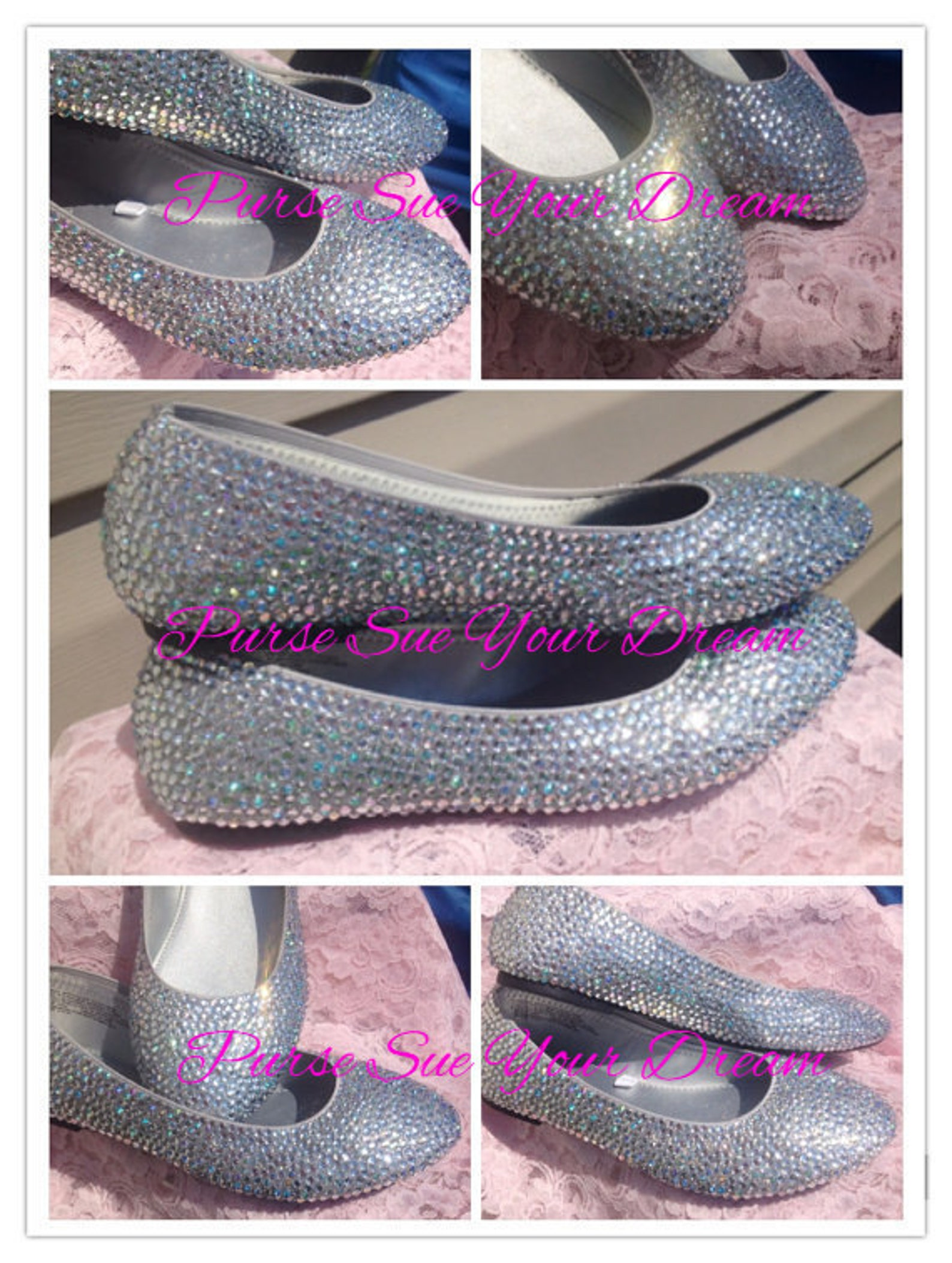 swarovski crystal rhinestone wedding ballet flats - bridal flat shoes - cinderella slippers - bridal swarovski crystal shoes - w