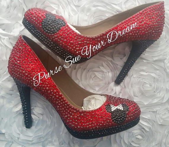 Cristal Novia Etsy Swarovski Minnie De Disney Zapatos Mouse 4nPq74v