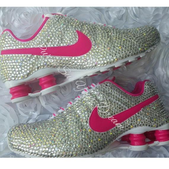 ead790909b524a Custom Crystal Swarovski Rhinestone Nike Shox Shoes
