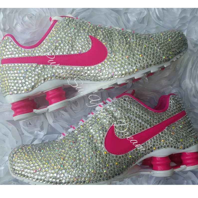 ea7c201dba1a0 Custom Crystal Swarovski Rhinestone Nike Shox Shoes - Swarovski Shoes -  Custom Nike's
