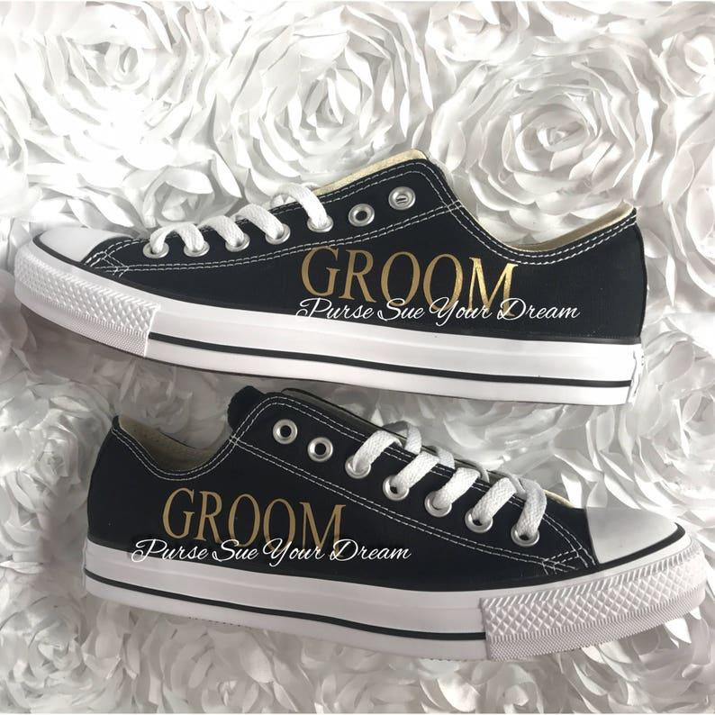 Personalised Groom Wedding Converse