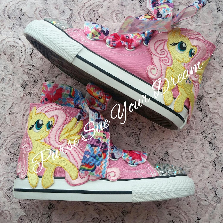 18e2f8cd6e7e MY LITTLE PONY Swarovski Crystal Converse Shoes My Little Pony