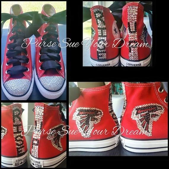 529c1f47e59 Custom Atlanta Falcons Inspired Converse Chucks Shoes Made