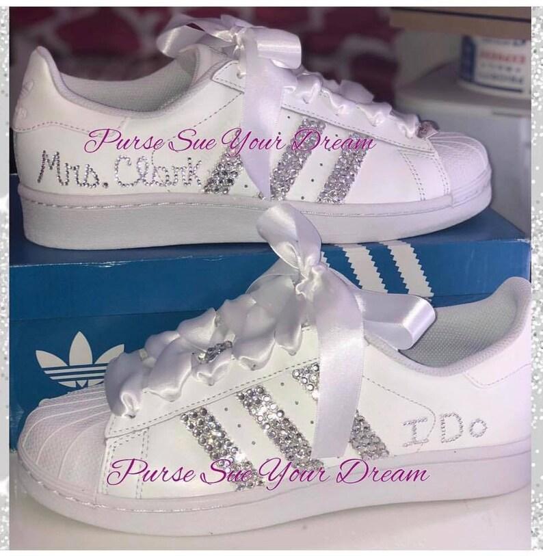 0f25c47880dbc Swarovski Crystal Design Bridal Adidas Superstar Wedding Shoes - Swarovski  Adidas - Swarovski Wedding Shoes