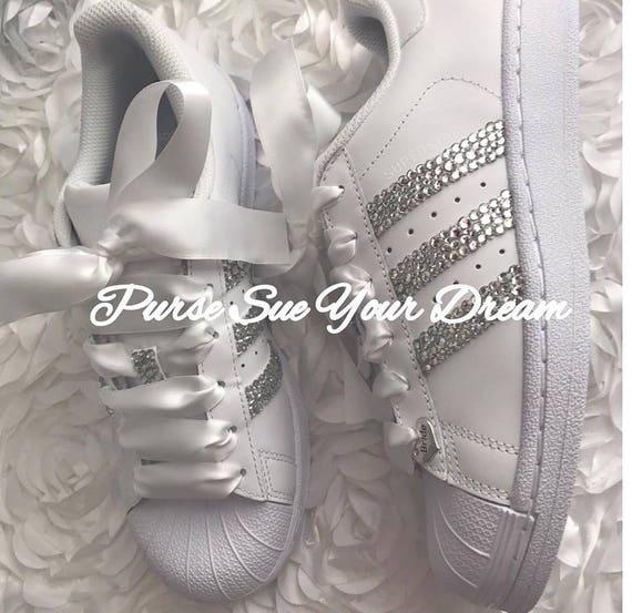 Swarovski Crystal Design Bridal Adidas Superstar Wedding Shoes Swarovski Adidas Swarovski Wedding Shoes