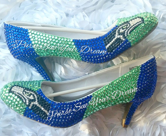 7e4127fd5 Seattle Seahawks Themed Custom High Heel Shoes Seahawk