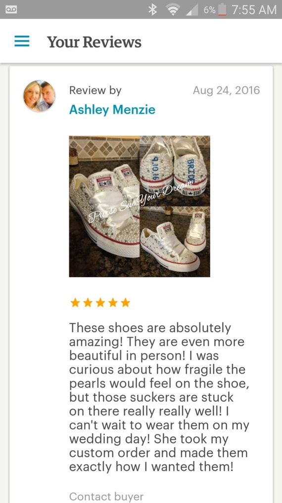 Perle Strass Chaussures Converse Et Personnalisé Mariage DeEtsy W9IH2ED
