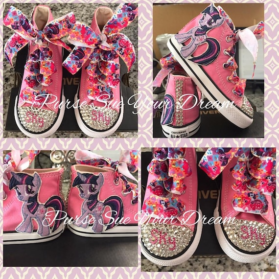 huge selection of the sale of shoes detailed pictures My Little Pony Birthday Outfit Shoes - Swarovski Converse - Twilight  Sparkle - Rainbow Dash - Pinkie Pie - My Little Pony Birthday