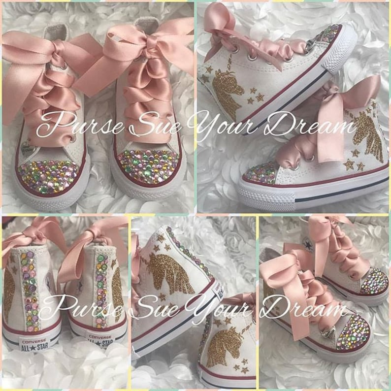 6bf5c85250d2 Unicorn Converse Shoes Unicorn Birthday Swarovski Crystal