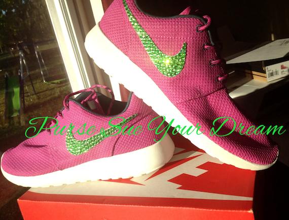 df635689532a Custom Nike Roshe Designed Shoes Swarovski Crystal Designs