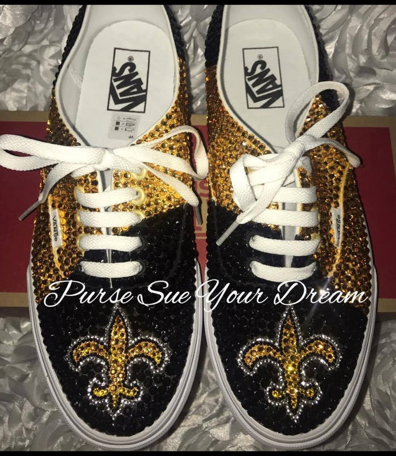 Custom Swarovski Crystal Rhinestone New Orleans Saints  64933f8a015b