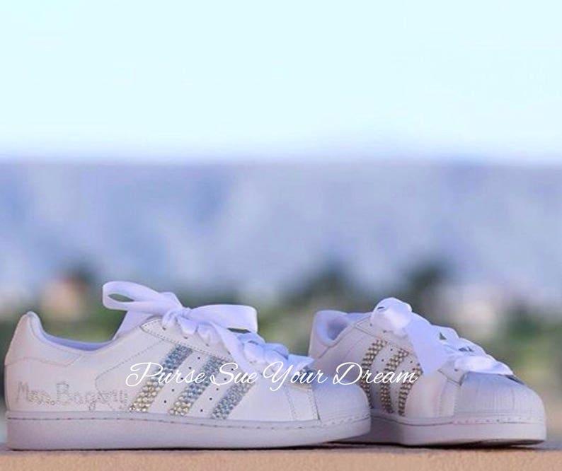 Crystal Scarpe Sposa Da Superstar Adidas Design Nuziale