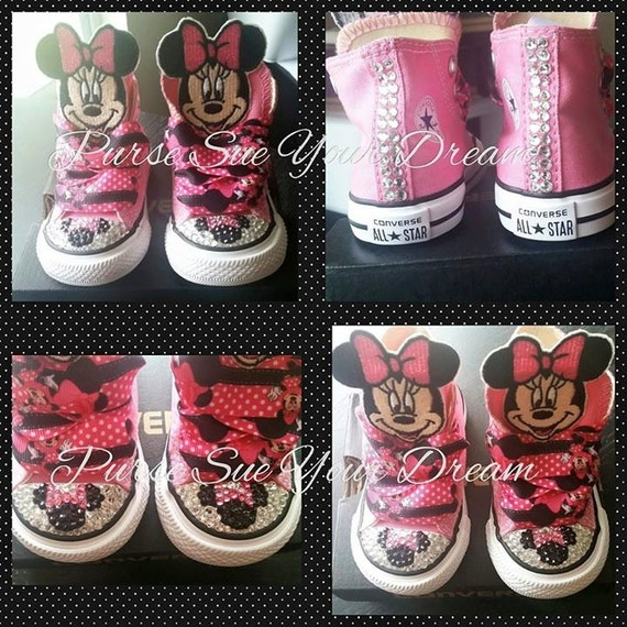 Custom Converse Shoes Minnie Mouse Themed Converse Minnie Mouse Birthday Disneyland