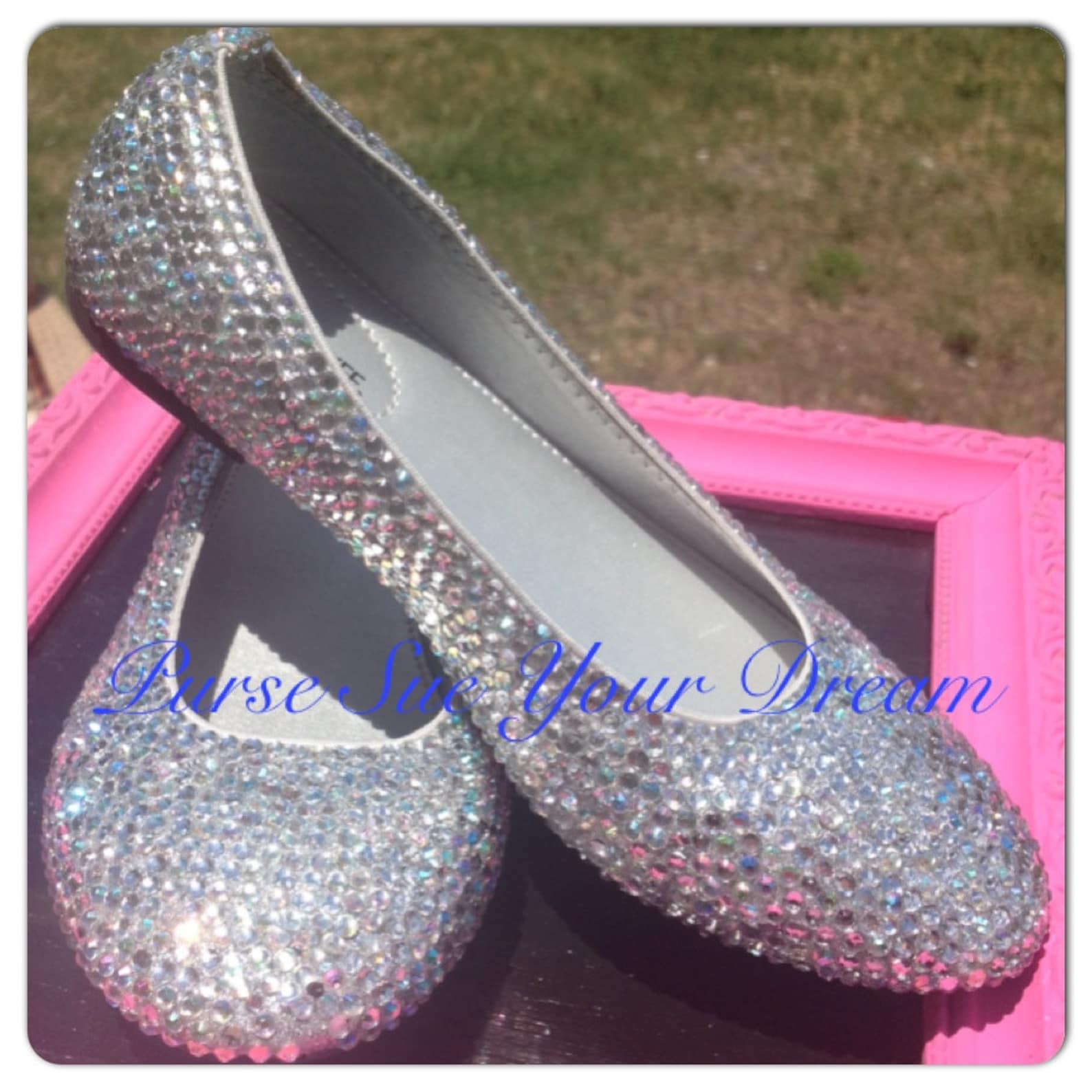 swarovski crystal rhinestone wedding ballet flats - bridal flat shoes - cinderella slippers - bridal swarovski crystal shoes - w