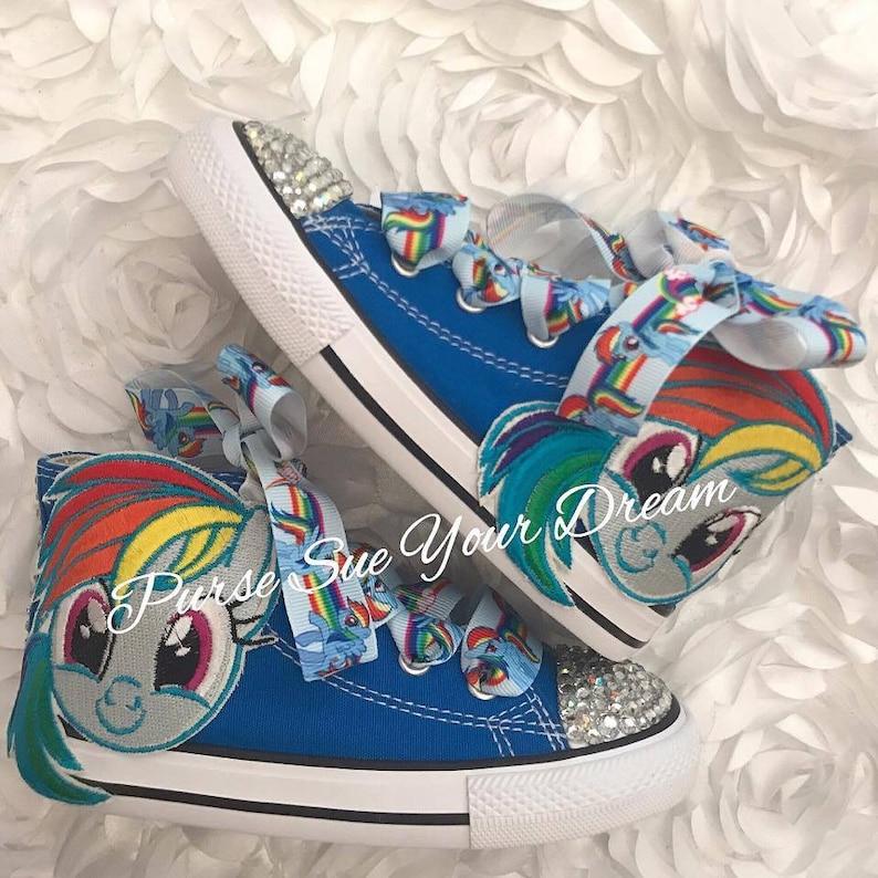04c8496508bd My Little Pony Custom Converse Swarovski Crystal Shoes