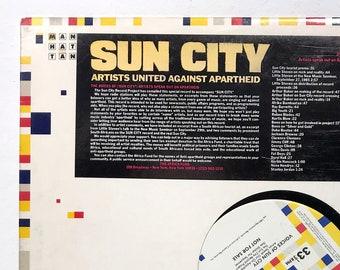 "Artists United Against Apartheid – Voices of Sun City - Manhattan - Vintage Vinyl 12"" Record, 1985"