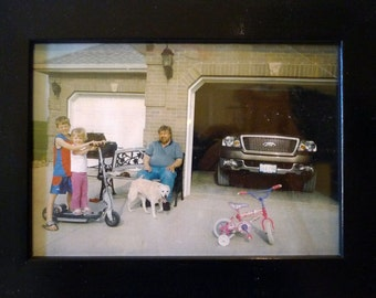 Found Photos - Father and Kids with Dog and Pickup Truck