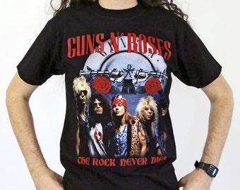Guns N Roses - The Rock Never Dies Black T-shirt Sz M