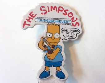 "True Vintage The Simpsons ""Underachiver: And Proud of It"" Pin Deadstock 1989"