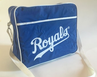 Vintage KANSAS CITY ROYALS Pizza Hut Vinyl Canvas Messenger Bag