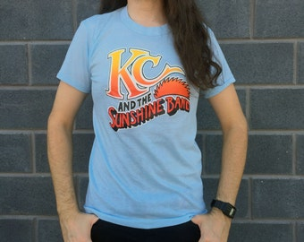 Vintage 1970s Deadstock KC & The Sunshine Band T-shirt