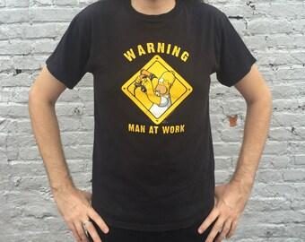 THE SIMPSONS 'Warning: Man at Work' T-Shirt