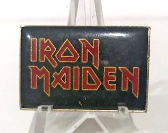True Vintage IRON MAIDEN Logo Enamel Pin