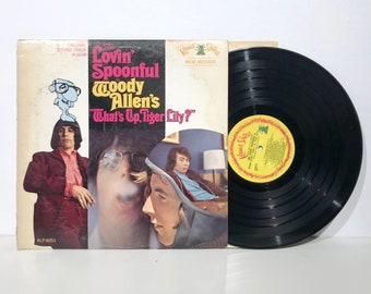 "In Woody Allen's ""Whats up, Tiger Lily?"" The Lovin' Spoonful  - Record Vintage Vinyl Soundtrack LP 1966"