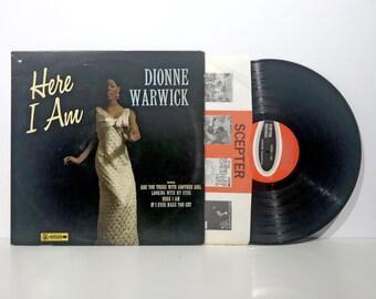 Dionne Warwick: Here I Am - Vintage Vinyl Record LP 1966