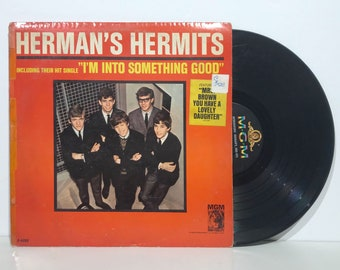 "Introducing Herman's Hermits feat. I'm Into Something Good – Vintage Vinyl LP Record 12"" (1964)"