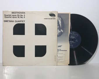 Ludwig van Beethoven: Smetana Quartet – Opus 18 and 59 Vintage Vinyl Record LP